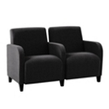 Fabric Two Seat Sofa with Center Arm, 75589