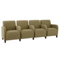 Fabric Four Seat Sofa with Center Arms, 75594