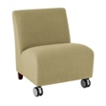 500 lb. Capacity Oversized Armless Guest Chair in Vinyl with Casters, 75608