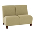 Vinyl Armless Two Seat Sofa, 75614
