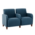 Vinyl Two Seat Sofa with Center Arm, 75615