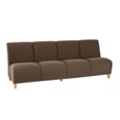 Vinyl Armless Four Seat Sofa, 75620