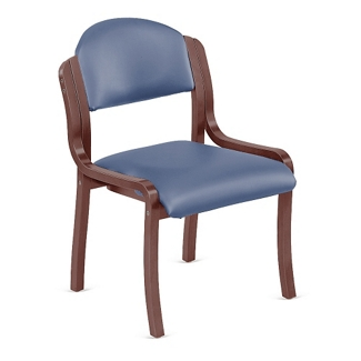 Armless Polyurethane Bentwood Frame Stack Chair, 75673