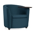 Fabric or Vinyl Round Tablet Arm Chair, 75685