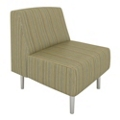 Armless Club Chair in Patterned Fabric, 75985