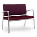 Designer Loveseat with Antimicrobial Vinyl Seat, 76038