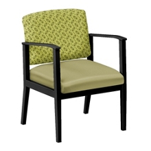 Mason Street Fabric and Polyurethane Guest Chair with Arms, 76078