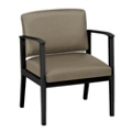 Mason Street Oversized Polyurethane Guest Chair with Arms, 76082