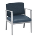 Mason Street Fabric and Polyurethane Oversized Guest Chair with Arms , 76083