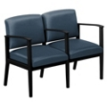 Mason Street Polyurethane Two Seater with Center Arm, 76102