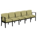 Mason Street Vinyl Five Seater without Center Arms, 76127