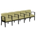 Mason Street Vinyl Five Seater with Center Arms, 76132