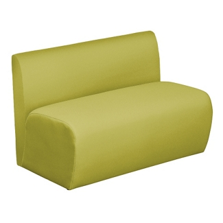 Synergy Collection Fabric Armless Loveseat , 76177