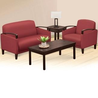 Arc Polyurethane Loveseat and Arm Chair Set, 76477