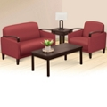 Arc Polyurethane Loveseat and Arm Chair Set, 76477