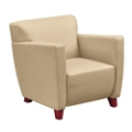 Edge Collection Polyurethane Arm Chair with Extra Thick Seat, 76209