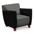 Edge Fabric or Fabric/Poly Arm Chair with Extra Thick Seat, 76212