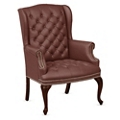 Monroe Faux Leather Wing Back Guest Chair, 76224