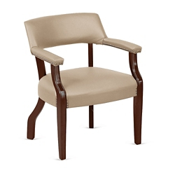 Monroe Faux Leather Captains Guest Chair, 76227