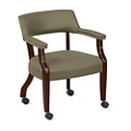 Monroe Fabric Captains Chair with Casters, 76229