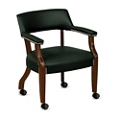 Monroe Leather Captains Chair with Casters, 76231