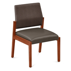 "Polyurethane or Fabric/Polyurethane Armless Guest Chair - 22.5""W x 23.5""D, 76303"