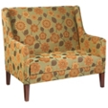 Fabric Loveseat with Wood Legs, 76321