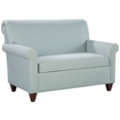 Fabric Upholstered Loveseat with Wood Legs, 76324
