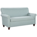 Fabric Upholstered Mid-Length Sofa with Wood Legs, 76325