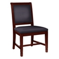 Fabric Armless Dining Chair with Wood Frame, 76366