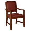 Square Back Fabric Dining Chair with Wood Frame, 76359