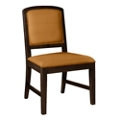 Armless Square Back Fabric Dining Chair with Wood Frame, 76360