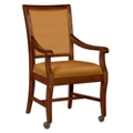 Fabric Dining Chair with Wood Frame and Casters, 76367