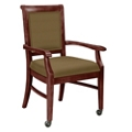 Fabric Dining Chair with Wood Frame and Casters, 76370
