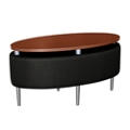 Oval Floating Laminate Table Top with Antimicrobial Vinyl Sides , 76377