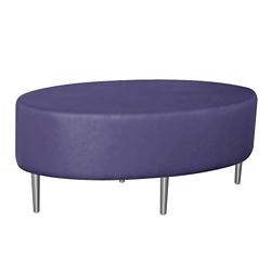 Oval Fully Upholstered Vinyl Table , 76392