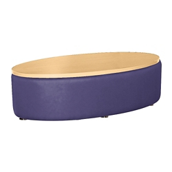 Oval Laminate Table with Vinyl Sides, 76400
