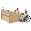 "Reception L Desk - 72""W, 76430"