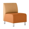 Modular Vinyl Armless Chair, 76438