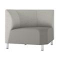 Modular Vinyl 90° Corner Chair, 76445