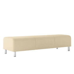 Modular Vinyl Three Seat Bench, 76449