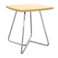 "Square Angled Base End Table 24""W x 24""D x 22""H, 76455"