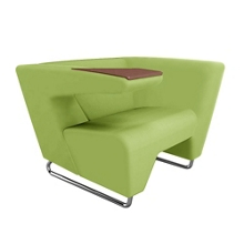 Right Tablet Arm Fabric Lounge Chair, 76458