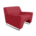 Low Arm Fabric Lounge Chair, 76459