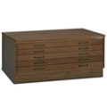 "40""W Five Drawer Wood Plan File , 70026"