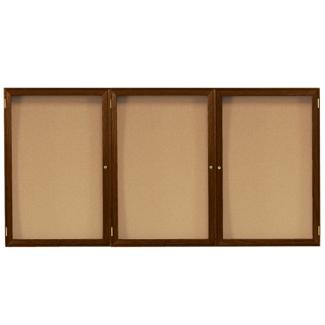 "Wood Frame Corkboard - 72""W x 36""H, 80132"