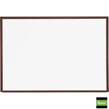 10' x 4' Porcelain White Board with Wood Frame, 80466
