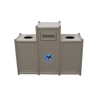 Recycled Plastic Recycling Center - 66 Gallon, 80561