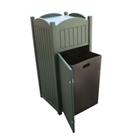 Recycled Plastic Outdoor Trash Bin - 22 Gallon, CD08551