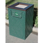 Recycled Plastic Waste Receptacle with Ashtray Top - 10 Gallon, CD08558
